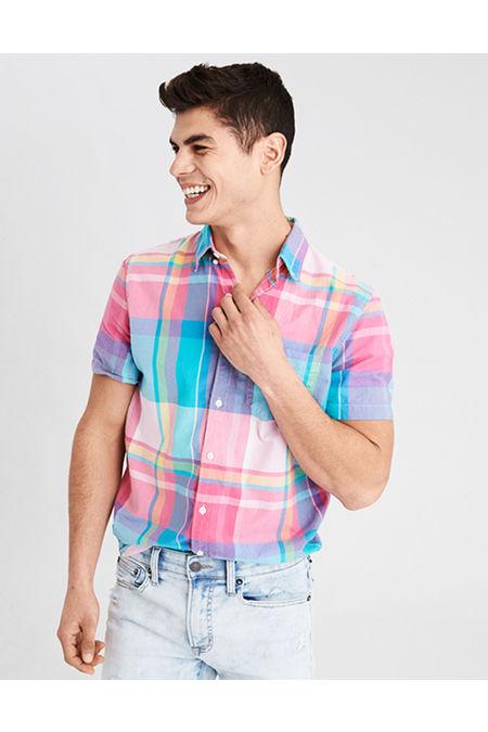 AE Short Sleeve Madras Shirt