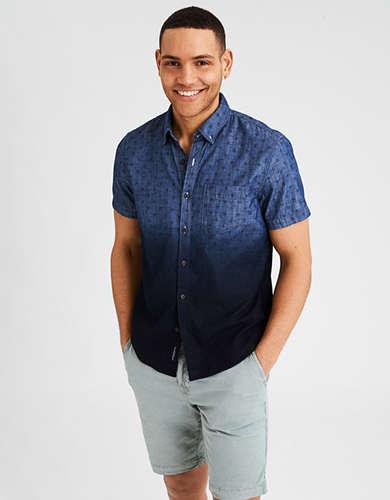 AE Dip Dye Chambray Button-Down Shirt