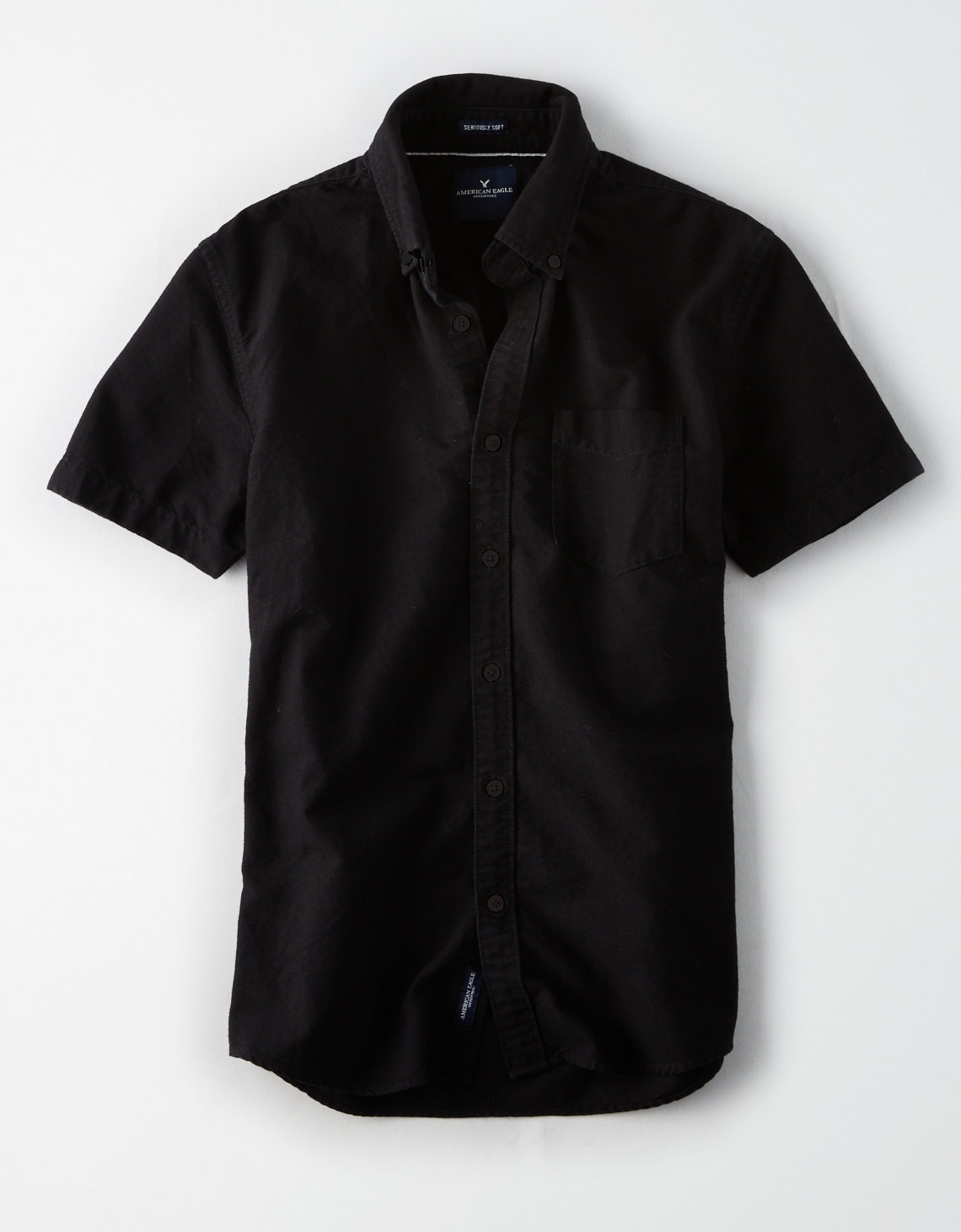 AE Washed Short Sleeve Oxford Shirt | Tuggl