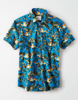 AE Short Sleeve Hawaiian Button Up Shirt