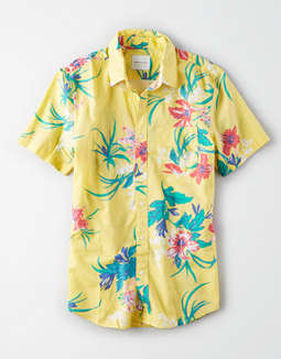 40baabe4efa1 placeholder image AE Short Sleeve Hawaiian Button Up Shirt ...