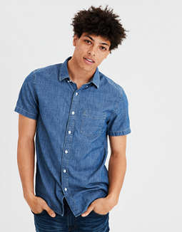 Ae Chambray Buttondown Shirt by American Eagle Outfitters