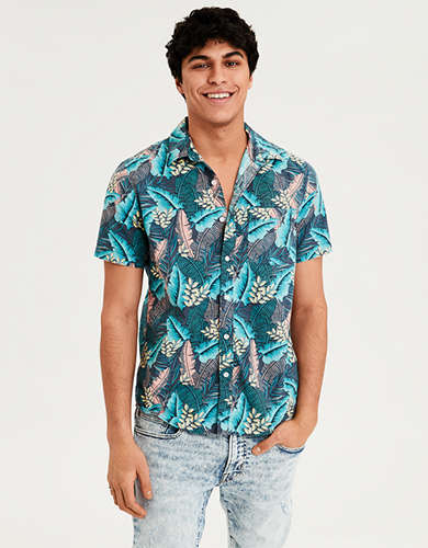 b79c1c87837 AE Short Sleeve Poplin Button Down Shirt