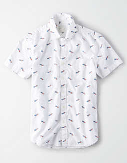 AE Short Sleeve Americana Button Up Shirt