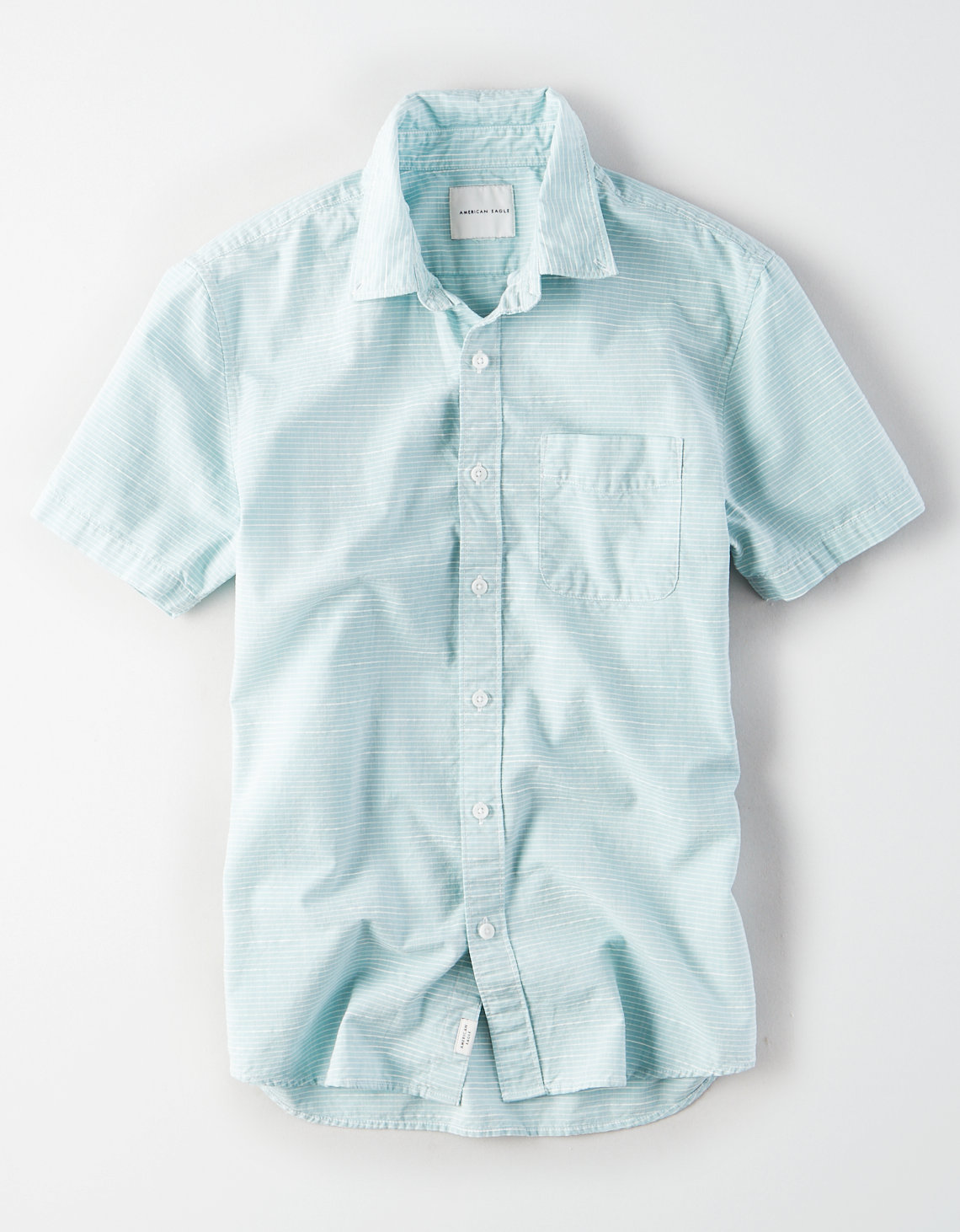 0db05a4e00 AE Short Sleeve Striped Button Down Shirt
