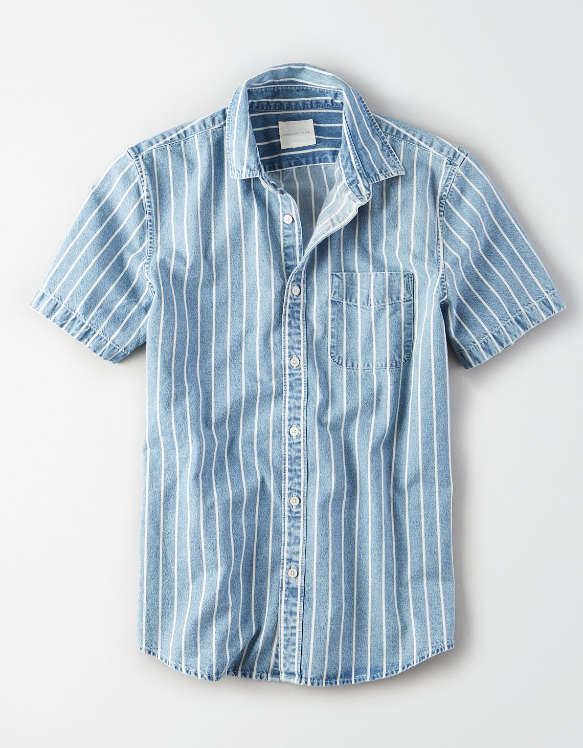 AE Striped Denim Button Up Shirt