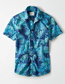 AE Washed Short Sleeve Button Up Shirt