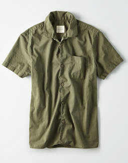 AE Twill Short Sleeve Button Up Shirt
