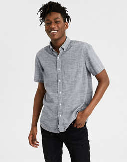 Ae Cotton Slub Short Sleeve Shirt by American Eagle Outfitters