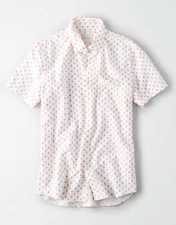 AE Short Sleeve Oxford Button Up Shirt