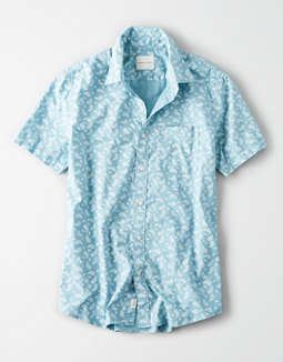 ec4360a324 placeholder image AE Short Sleeve Button Up Shirt ...