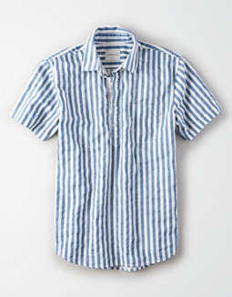 AE Short Sleeve Oxford Pullover Shirt