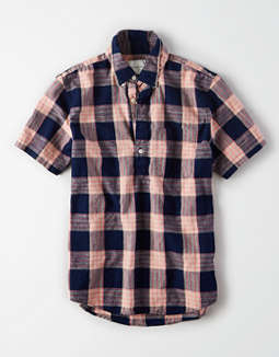 AE Short Sleeve Oxford Popover Shirt