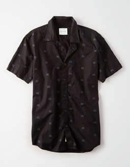 AE Short Sleeve Printed Poplin Shirt