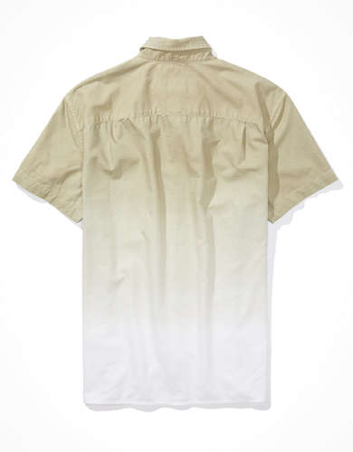 AE Dip-Dye Short-Sleeve Button-Up Shirt