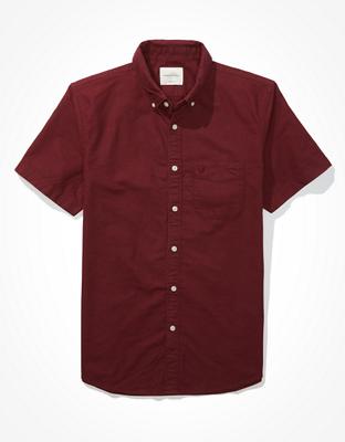 Рубашка на пуговицах из ткани оксфорд с коротким рукавом AE