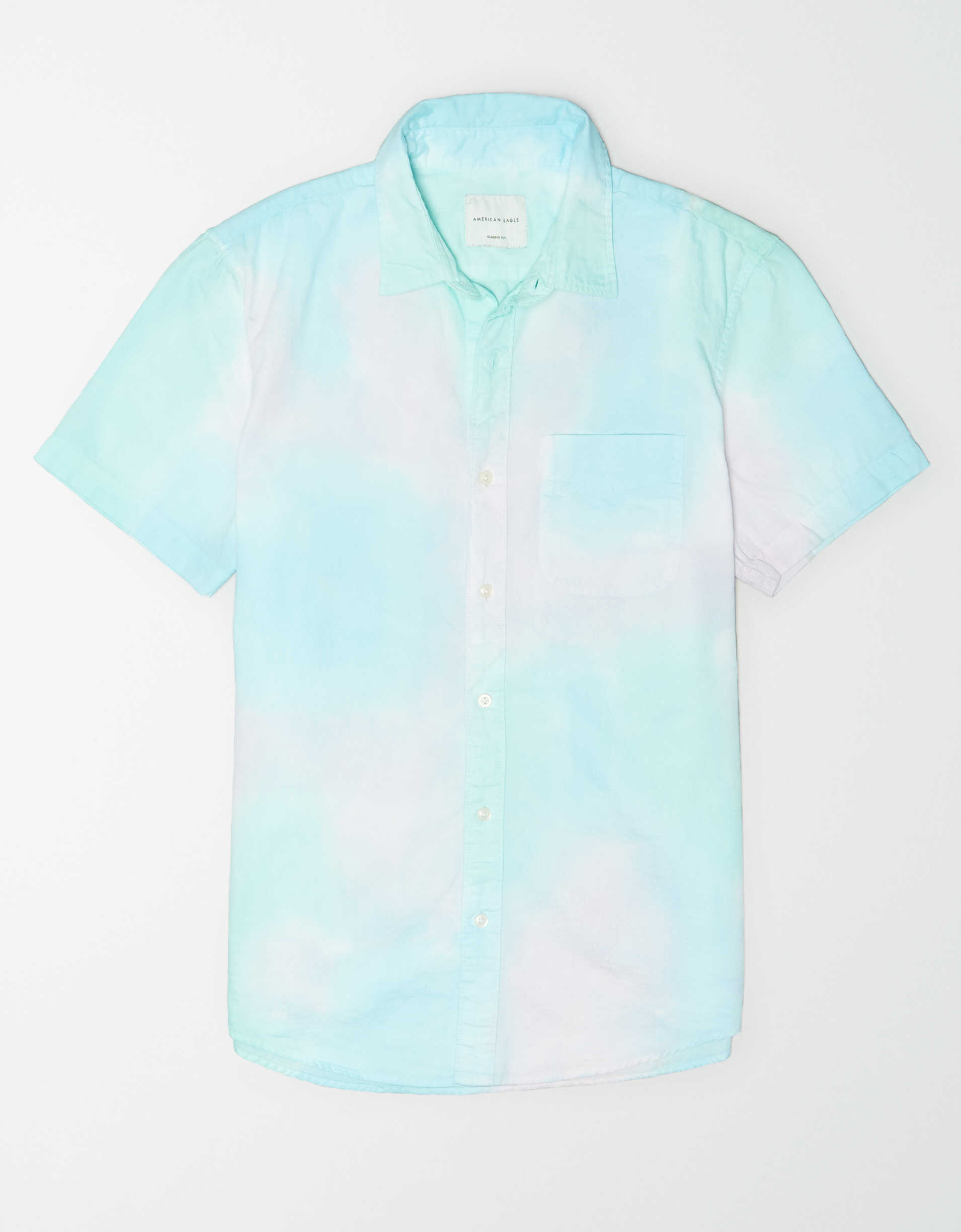 AE Tie-Dye Short Sleeve Button Up Shirt