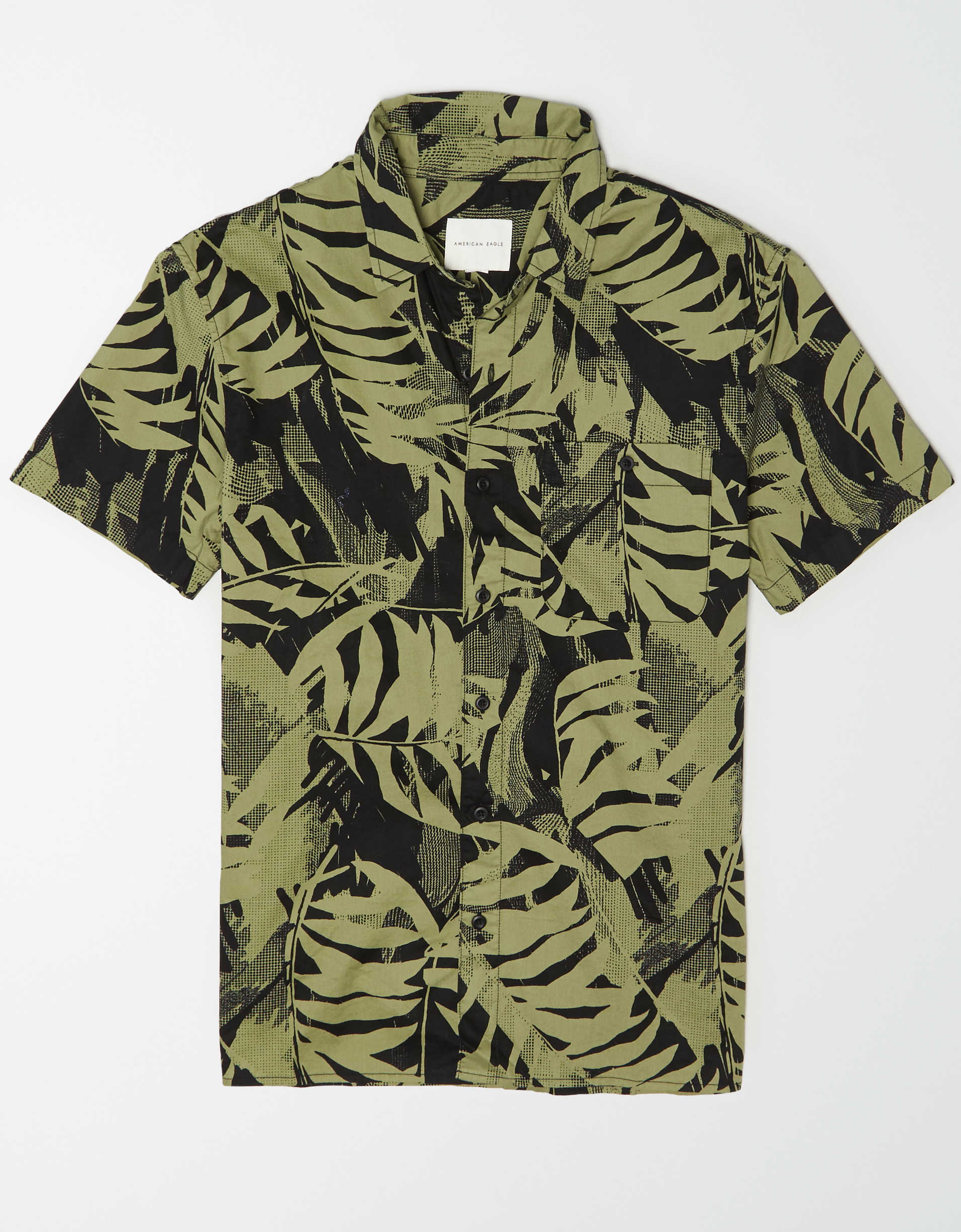 AE Tropical Short Sleeve Button Up Shirt
