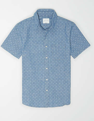 AE Chambray Short Sleeve Button-Up Shirt