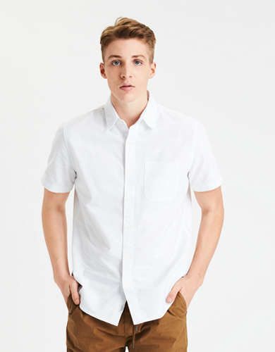 AE Short Sleeve Oxford Button-Up Shirt
