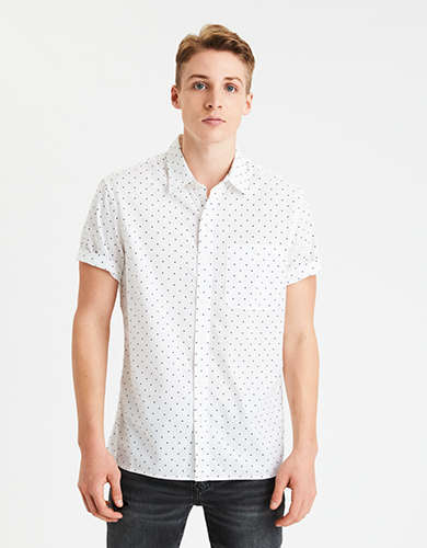 AE Short Sleeve Poplin Button-Up Shirt