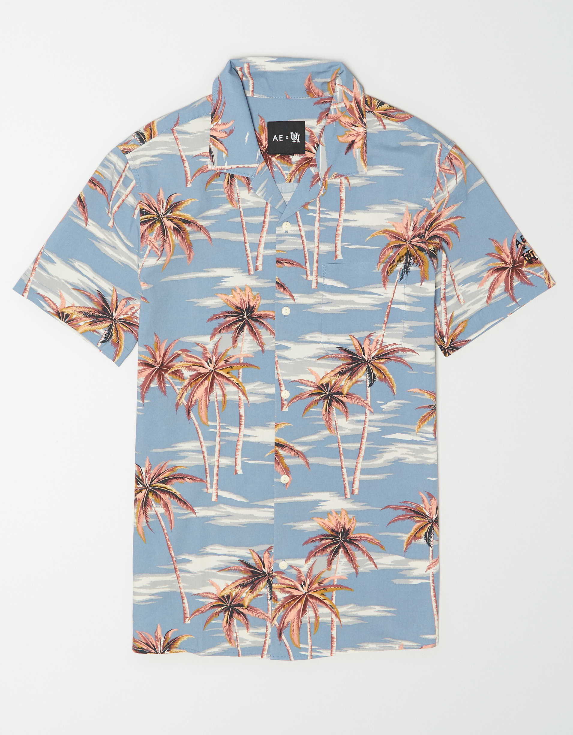 AE X Urban Necessities Tropical Print Button-Up Shirt