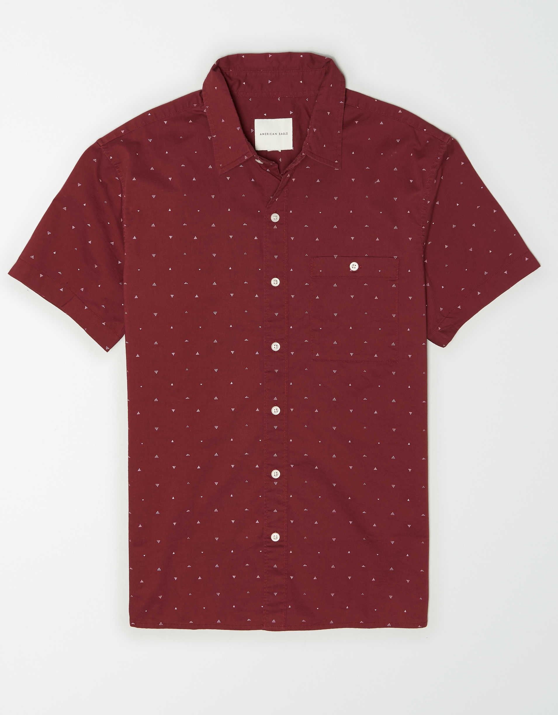 AE Poplin Short Sleeve Button-Up Shirt