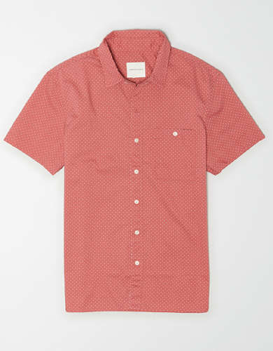AE Poplin Short-Sleeve Button-Up Shirt