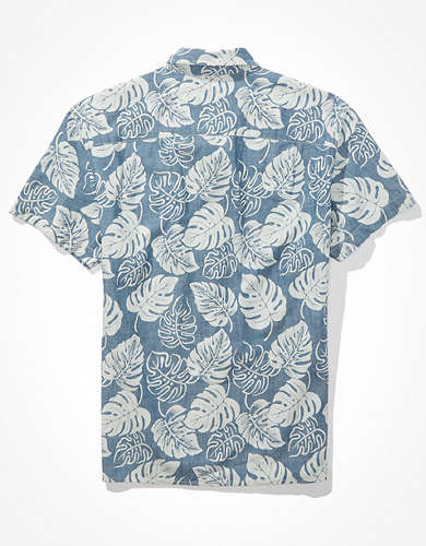 AE Tropical Short-Sleeve Button-Up Shirt