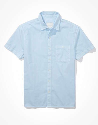 AE Oxford Short-Sleeve Button-Up Shirt