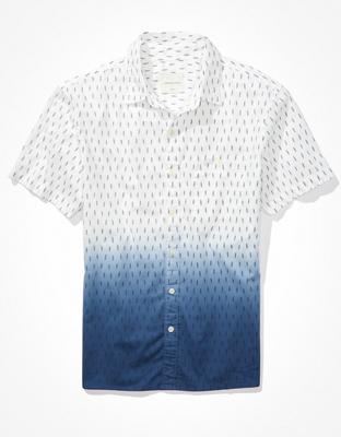 חולצה מכופתרת שרוול קצר דיפ דאי אמריקן איגל