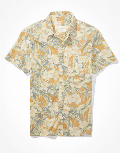 AE Hawaiian Short-Sleeve Button-Up Shirt