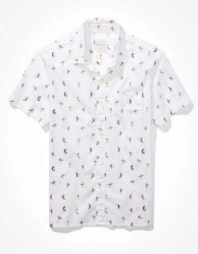 AE Surfers Short-Sleeve Button-Up Shirt