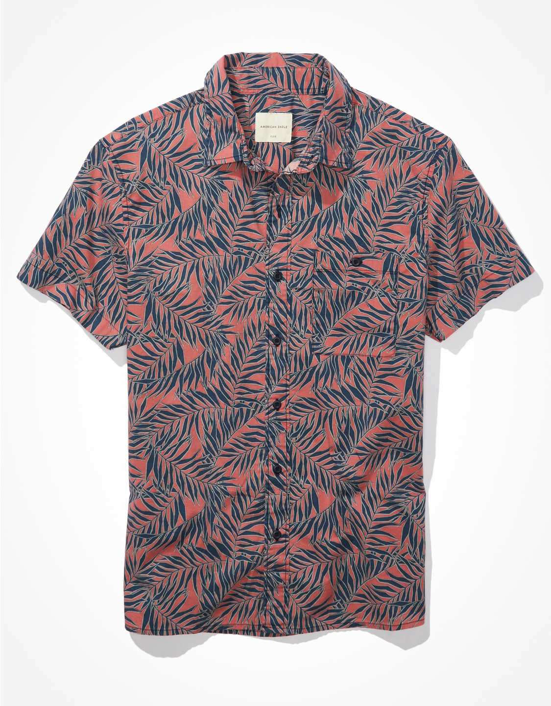 .98 AE Tropical Short-Sleeve Button-Up Shirt + Free shipping over  at American Eagle!