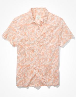 AE Tropical Short-Sleeve Button-Up Shirt