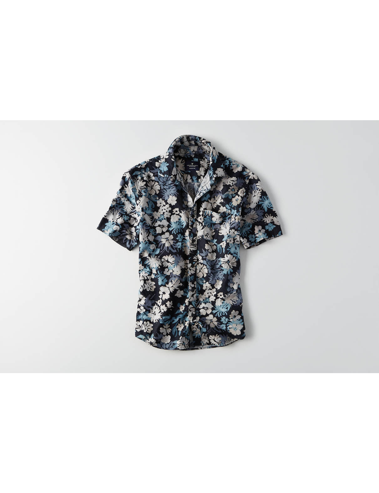 Display product reviews for AEO Camp Collar Oxford Shirt