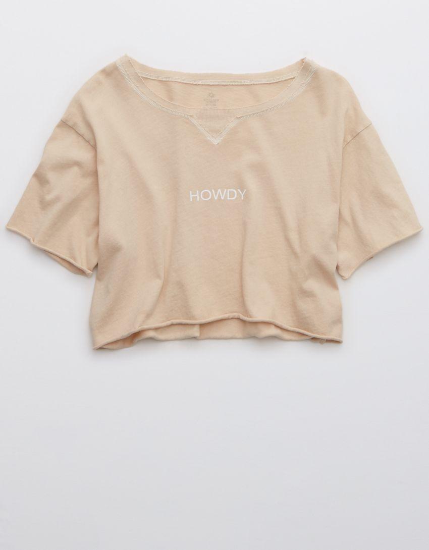 OFFLINE Graphic Cropped Crewneck T-Shirt