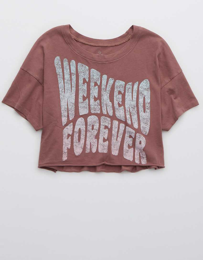 OFFLINE By Aerie Cropped T-Shirt
