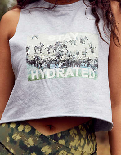 OFFLINE Terry Hydrated Graphic Cropped Tank Top