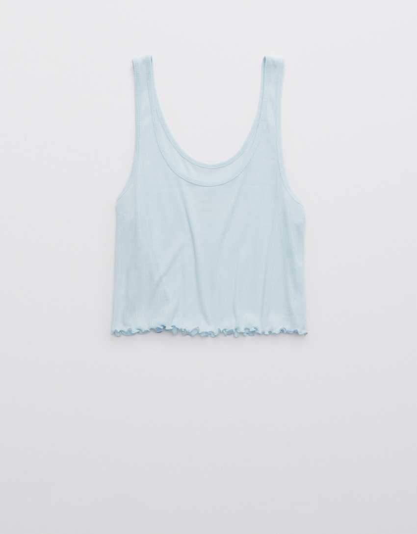 OFFLINE By Aerie Ribbed Cropped Tank Top