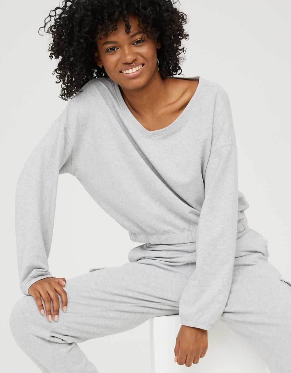 OFFLINE V Neck Sweatshirt