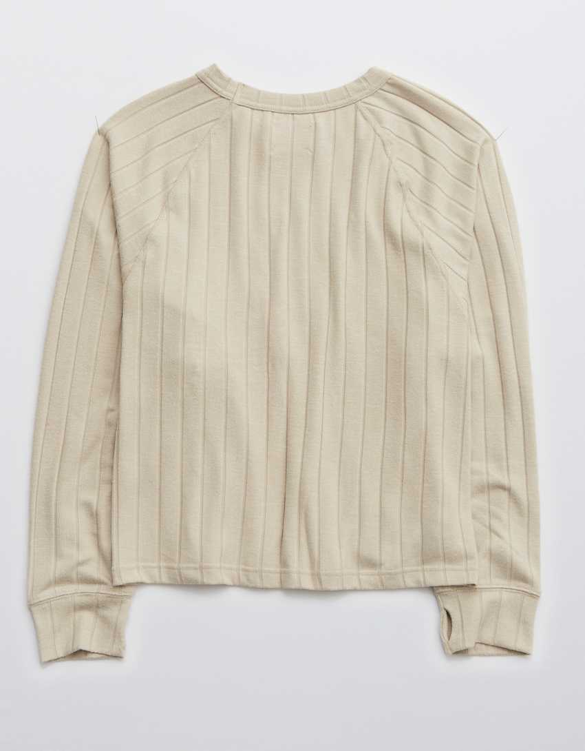 OFFLINE By Aerie Cozy Class Crew Neck Sweatshirt