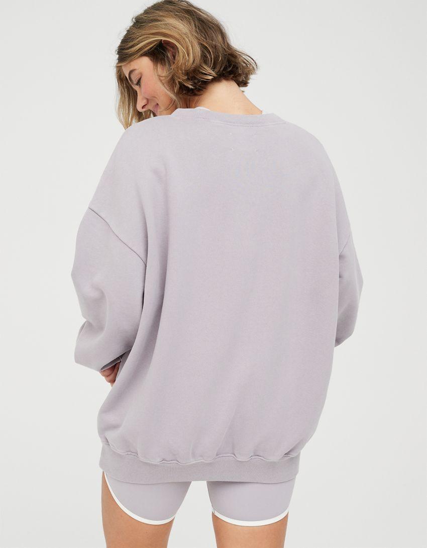 OFFLINE By Aerie Throw-Back Fleece Crew Neck Sweatshirt