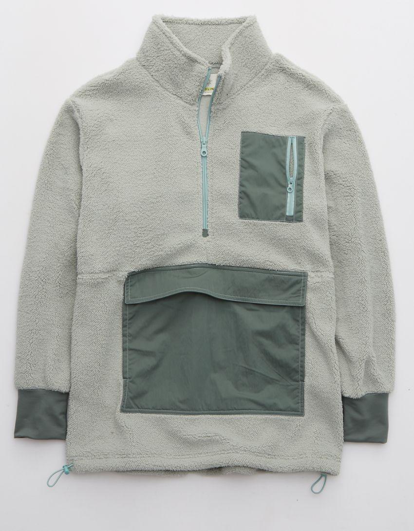OFFLINE Sherpa Nylon Quarter Zip Jacket