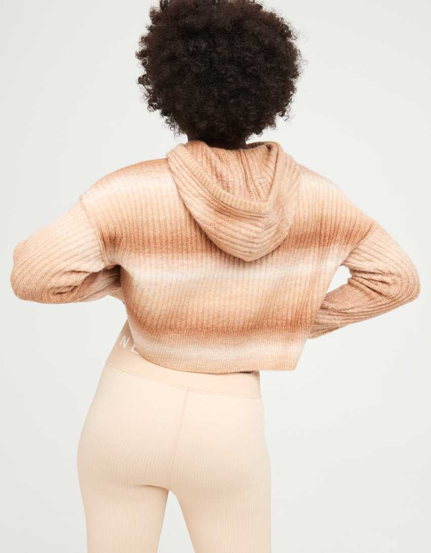 OFFLINE Ribbed Cropped Sweater Hoodie