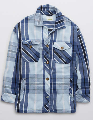 OFFLINE Flannel Button Down Jacket