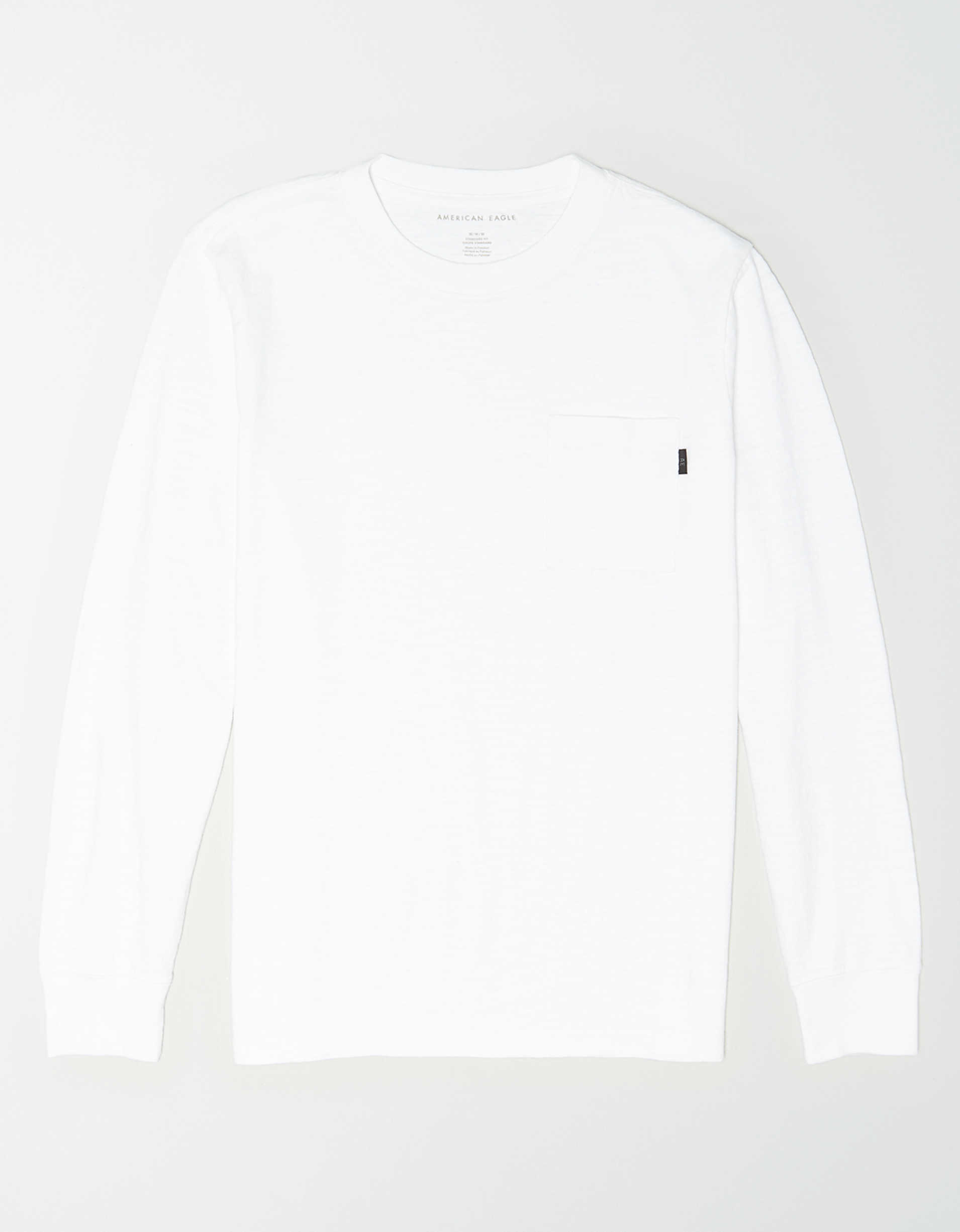 AE Long Sleeve Slub Jersey Pocket T-Shirt