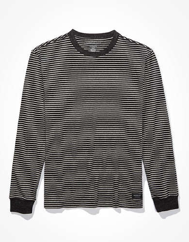 AE Super Soft Striped Long-Sleeve T-Shirt