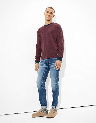 AE Super Soft Striped Long Sleeve T-Shirt