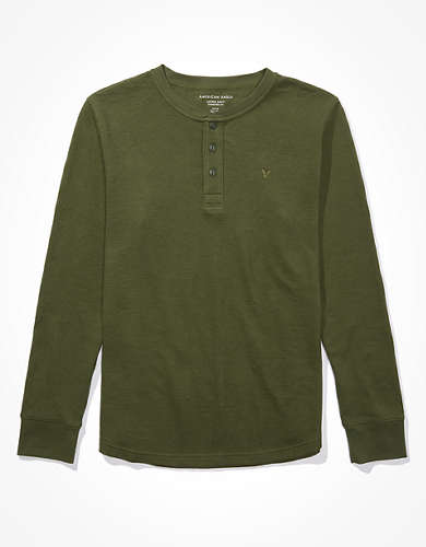 AE Super Soft Henley Thermal Shirt